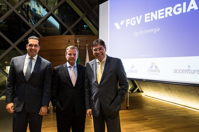 Gustavo De Marchi, moderador, Carlos Otavio Quintella, Diretor Executivo da FGV Energia e Wilson Ferreira Júnior, presidente da Eletrobras