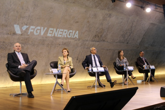 Donizete Tokarski, Diretor Superintendente (UBRABIO), Elizabeth Farina, Diretora-Presidente (UNICA), Aurélio Amaral, Diretor (ANP), Tamar Roitman, Pesquisadora (FGV Energia) e José Mauro Coelho, Diretor (EPE)
