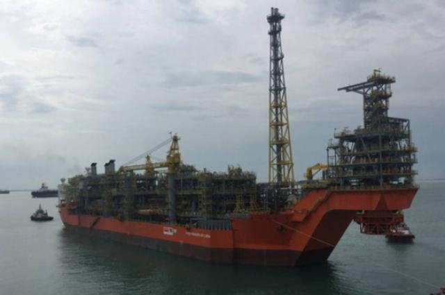 O FPSO Pioneiro de Libra saiu do estaleiro da Jurong em Cingapura no dia 28 de março rumo ao Brasil