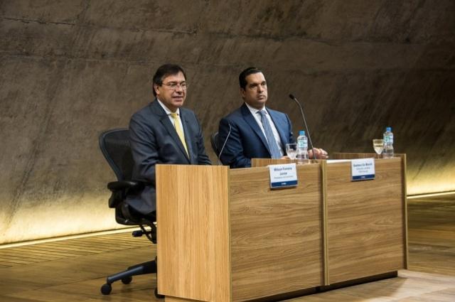 Wilson Ferreira Júnior, presidente da Eletrobras e Gustavo De Marchi, moderador
