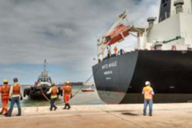 Navio atracado no Porto do Açu: Complexo industrial e ZPE para atrair novos consumidores de gás (Foto: Cortesia Prumo)