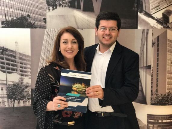 Fernanda Delgado, pesquisadora da FGV Energia e Bruno Falcão, da Accenture Strategy